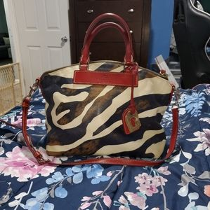 Dooney and bourke animal print satchel